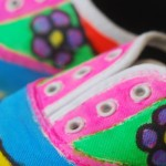 Faux Arts shoe painting